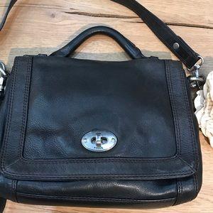 Fossil Pebbled Leather Crossbody Messenger Bag